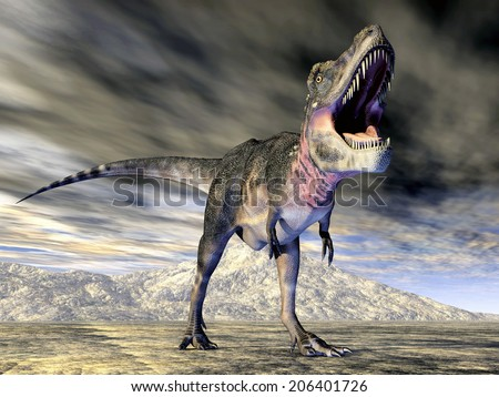 Dinosaur Tarbosaurus Computer generated 3D illustration - stock photo
