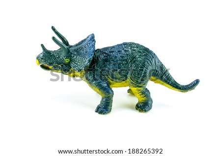 Dinosaur toy on isolated on white - stock photo