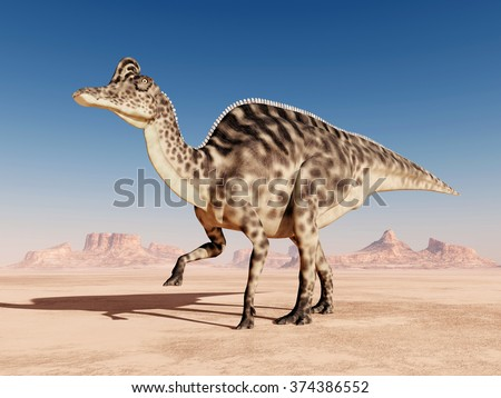 Dinosaur Velafrons Computer generated 3D illustration - stock photo