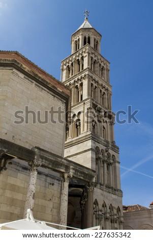 Diocletian palace in Split, Croatia - stock photo