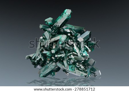 Dioptase cluster from Namibia.