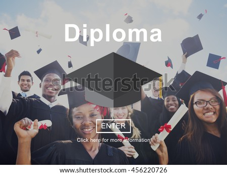 Diploma Education Degree Graduation Learning Concept - stock photo