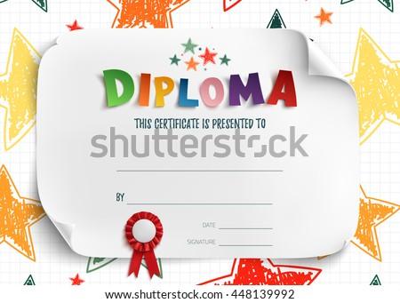 Kids Certificate Images RoyaltyFree Images Vectors – Sample Certificates for Kids