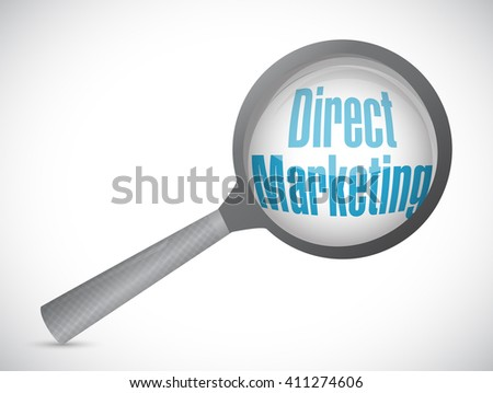 direct marketing magnify glass sign concept illustration design graphic - stock photo