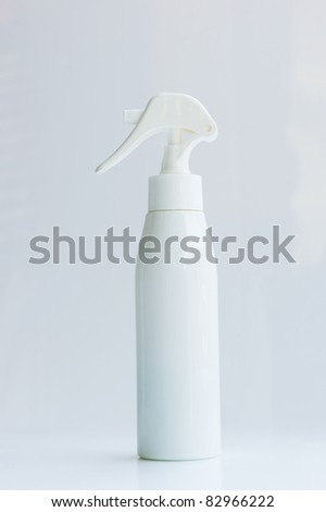 Direct side view of a white spray. - stock photo