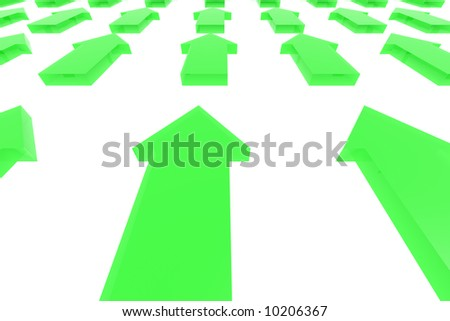 direction 3d abtract - stock photo