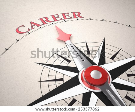 Direction of Career, Compass concept, 3d render - stock photo