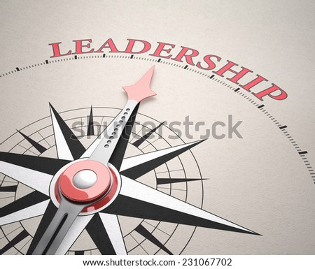 Direction of Leadership , Compass concept, 3d render - stock photo