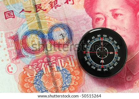 Direction to money. - stock photo