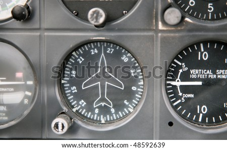 directional gyro on a small aircraft - stock photo