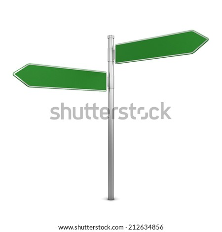 Directional sign. 3d illustration isolated on white background  - stock photo