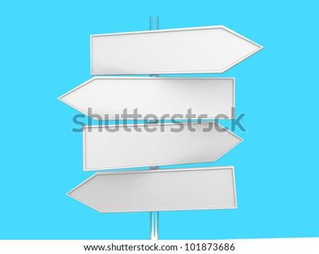 Directional sign - 3d render illustration - stock photo