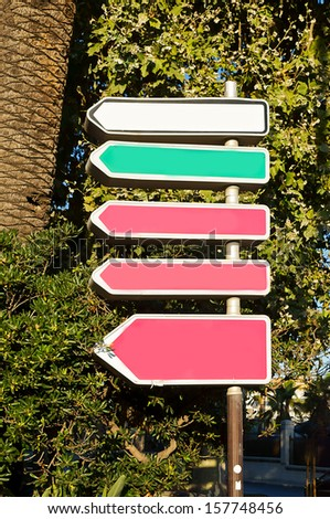 directional signs - stock photo