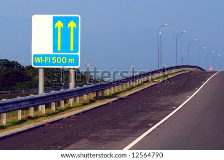 directions to wifi hotspot - stock photo