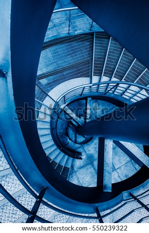 Directly Above Shot Of Spiral Staircase.