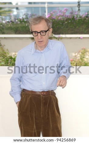 Director/actor WOODY ALLEN at the photocall in Cannes for his new movie Hollywood Ending which is opening the 2002 Cannes Film Festival. 15MAY2002   Paul Smith / Featureflash - stock photo