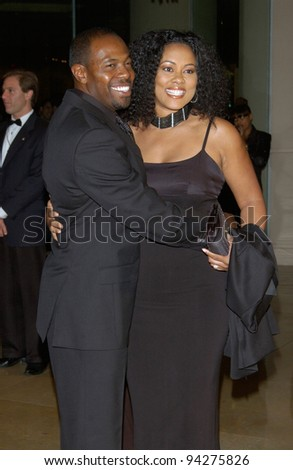 Director ANTOINE FUQUA & actress wife LELA ROCHON at the 17th Annual American Cinematheque Awards gala in Beverly Hills. 06DEC2002.   Paul Smith / Featureflash - stock photo
