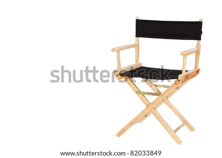 Director chair isolated on white background - stock photo