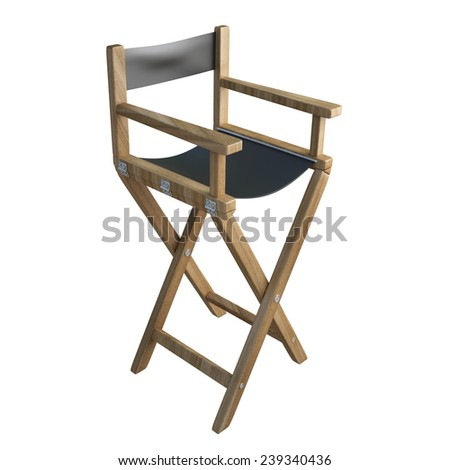 director's chair isolated on white background. High resolution 3d