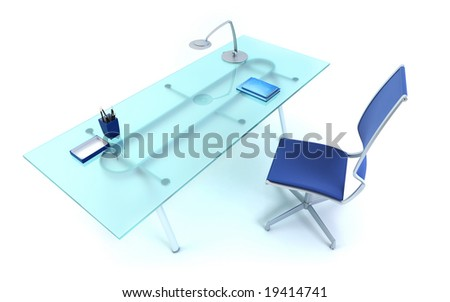 director's office isolated 3d rendering - stock photo