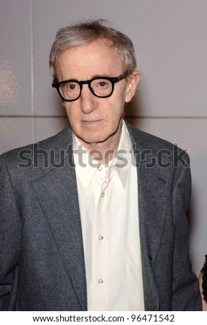 Director WOODY ALLEN at the Los Angeles premiere of his new movie Match Point. December 8, 2005  Los Angeles, CA.  2005 Paul Smith / Featureflash - stock photo