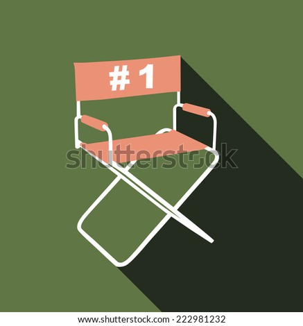 Directors chair - stock photo