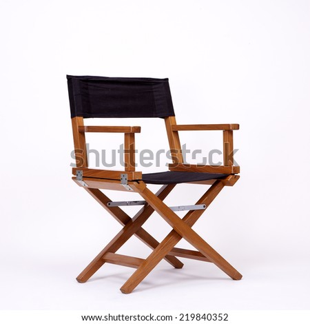 directors chair in film industry, isolated on white background - stock photo