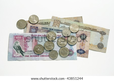 Dirham currency from uae - stock photo