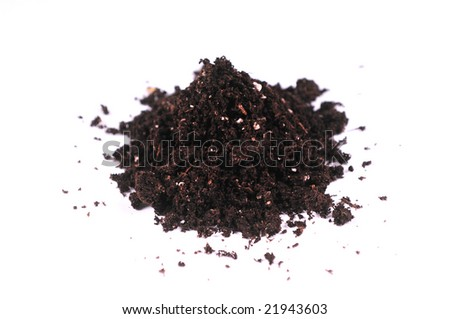 dirt isolated on white - stock photo