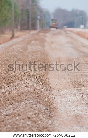 dirt mover on construction site - stock photo