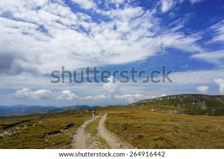 Dirt road in the mountains of Romania