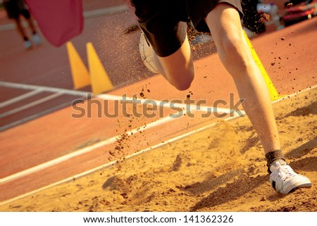Dirt Splashed By An Athlete , Hong Kong - stock photo