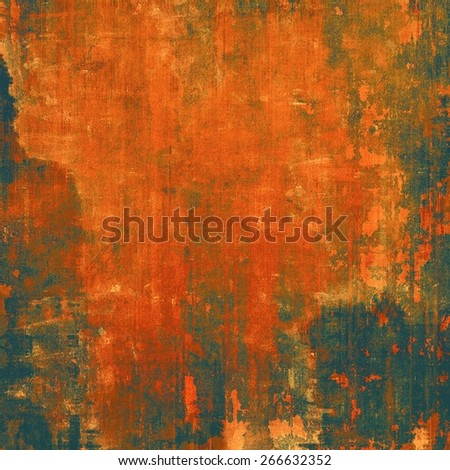 Dirty and weathered old textured background. With different color patterns: brown; red (orange); black - stock photo