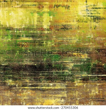 Dirty and weathered old textured background. With different color patterns: yellow (beige); brown; black; green - stock photo