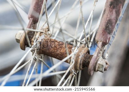 Dirty Bicycle Spokes rust