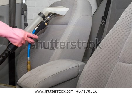 car interior light gray textile seats stock photo 449763511 shutterstock. Black Bedroom Furniture Sets. Home Design Ideas