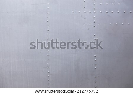 Dirty detailed texture of old fighter body - stock photo