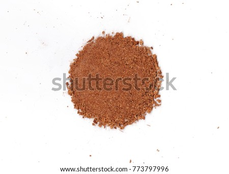 Dirty earth on white background. Natural soil texture