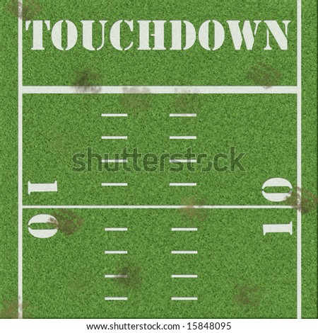 Dirty football field background - stock photo