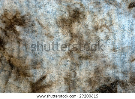 Dirty micro fiber towel from cleaning a car. would also work great for a grunge texture - stock photo