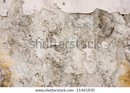 dirty plastered wall - stock photo
