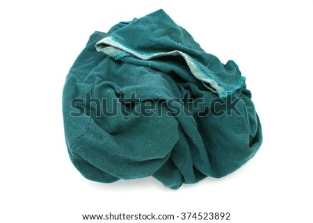 Dirty rag suspended isolated