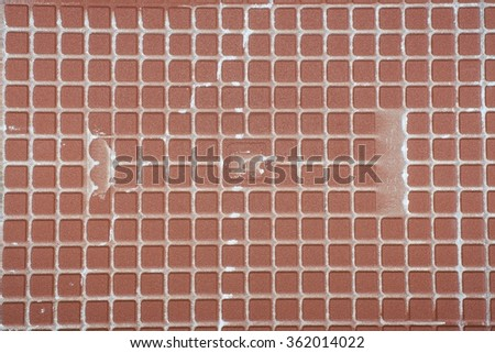 Dirty square tiles background texture.