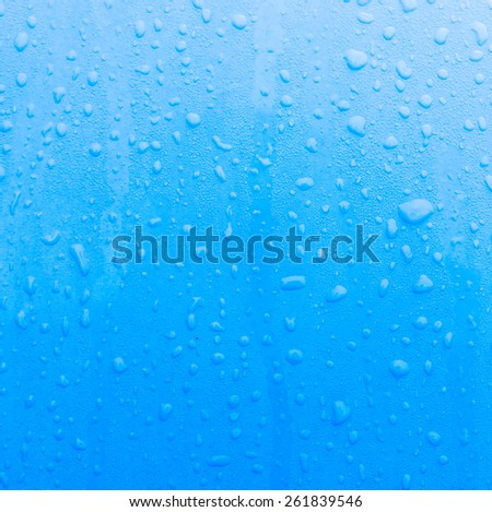 Dirty Water drop on blue background