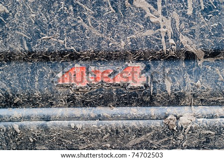 Dirty 4x4 logo - stock photo