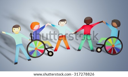 Disabled Children. - stock photo