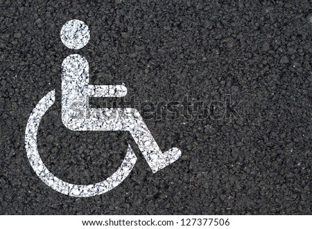 Disabled icon background - stock photo