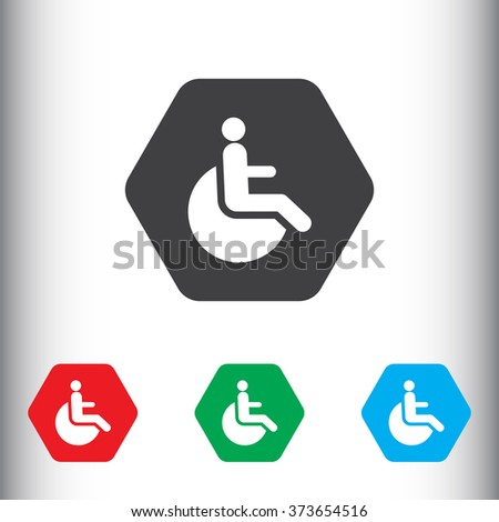 Disabled icon for web and mobile. - stock photo