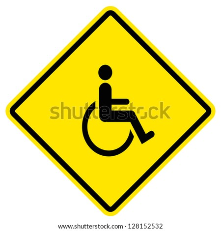 disabled icon sign - stock photo
