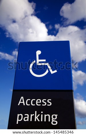Disabled Parking Access Sign - stock photo